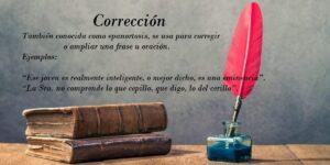 Corrección. Definición y origen