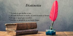 Definición de distinctio. 10 Ejemplos