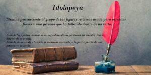 Idolopeya ¿qué es? 7 ejemplos