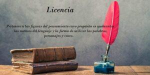 Licencia. Concepto y ejemplos