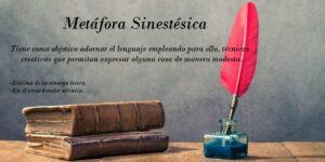 Metáfora sinestésica. Definición tipos y ejemplos